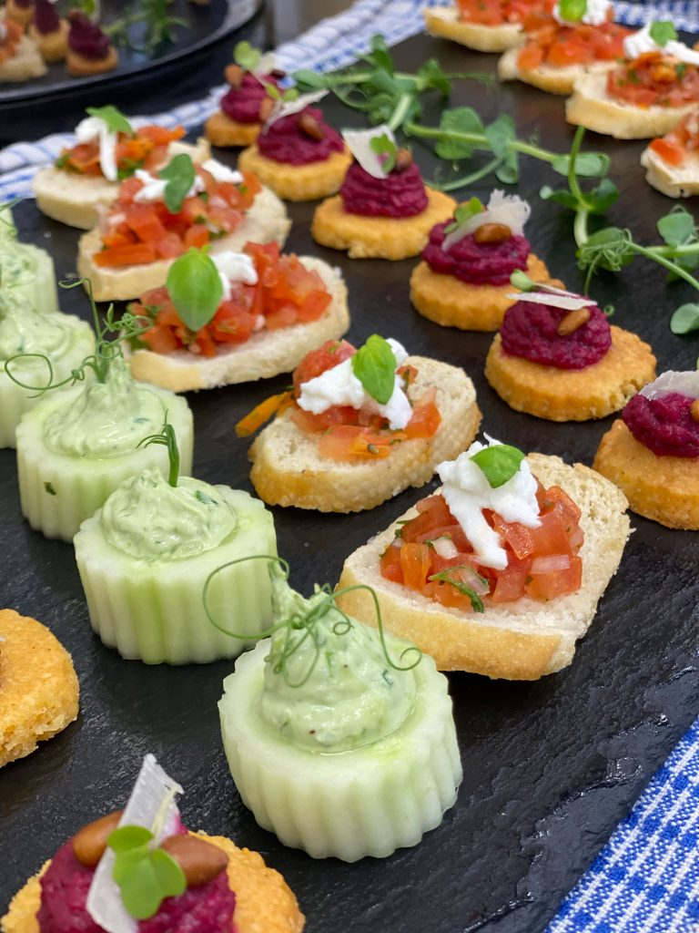 Catering for-Weddings-in-Norfolk-Suffolk-Trios-Catering-canapes