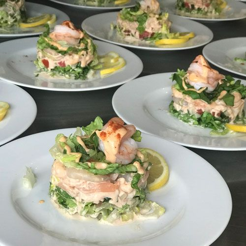 Wedding-Catering-Menu-ideas--Classic Prawn-Cocktail-Trios-Catering-Norfolk